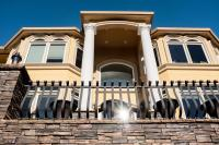 large ugly house with tall columns