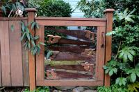 gate made out of old saws