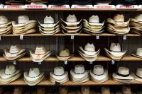 shelves with cowboy hats