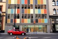 building with bright colors