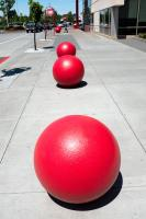 red round objects outside Target