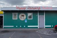 Front of the Happy Landing Tavern