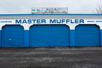blue and white muffler shop