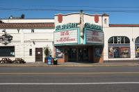 Aladdin Theater building and sign