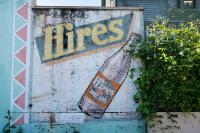 Old painted Hires Root Beer sign